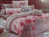 Сатиновое постельное белье евро ELWAY 4063