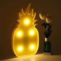 Светильник ночник 3D Ананас, фото 1