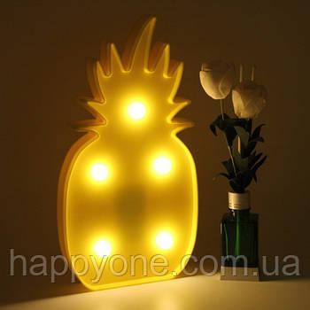 Светильник ночник 3D Ананас