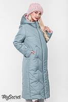 Стильная зимняя двухсторонняя куртка для беременных TOKYO, розовая с оливкой, фото 1