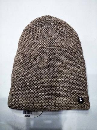 Женская шапка с люрексом Тиана Шоколад , фото 2