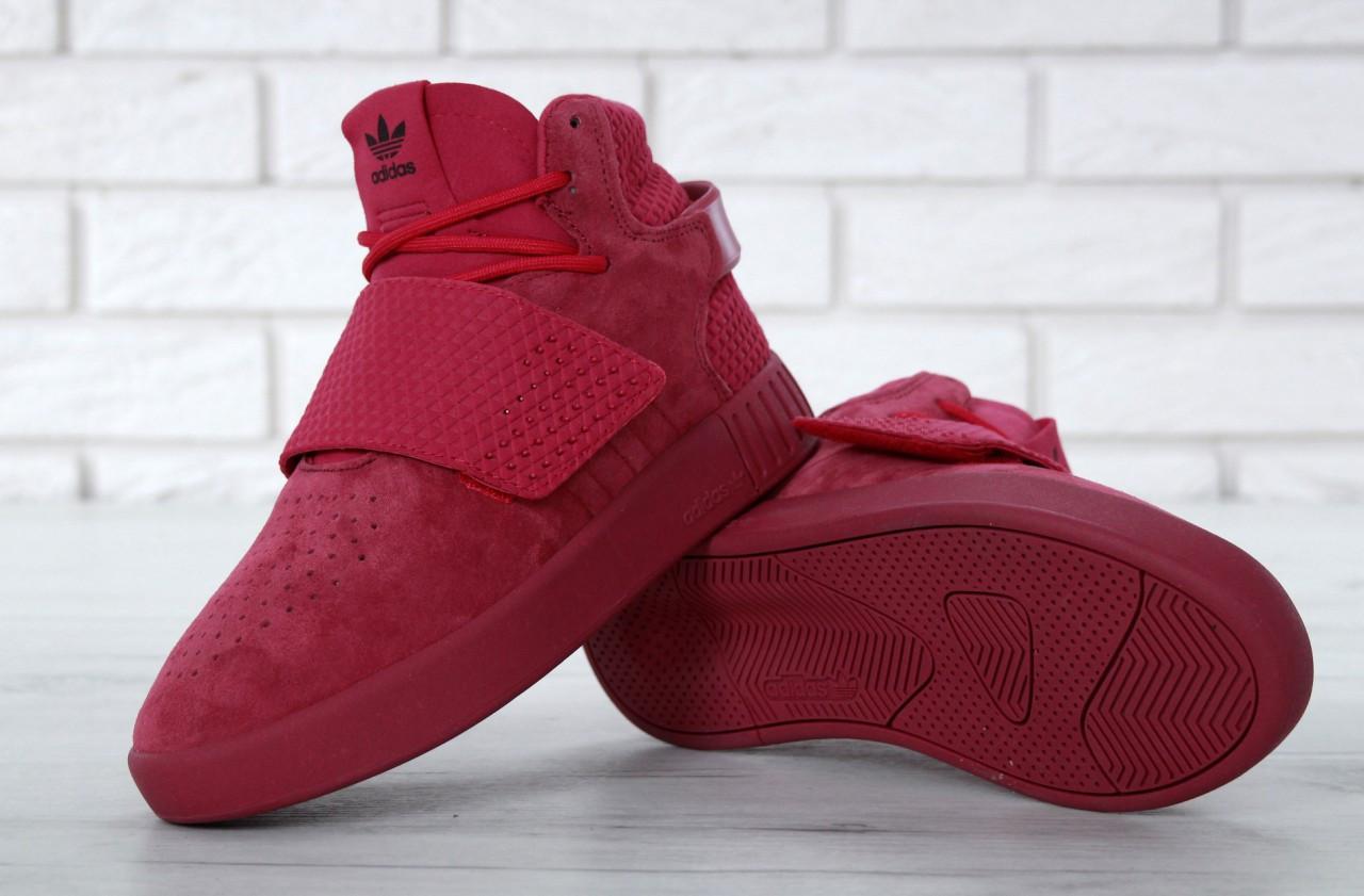 ... Женские высокие кроссовки Adidas Tubular Invader Strap Red, фото 4 ... 58b2b2b689e