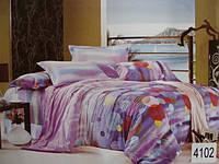 Сатиновое постельное белье евро ELWAY 4102