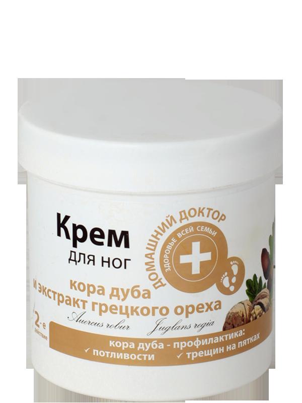Крем для ног «Кора дуба и экстракт грецких орехов» Домашний Доктор 250мл