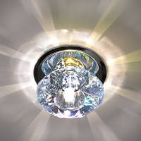 Встраиваемый светильник Feron JD80S 2 цвета CRYSTAL