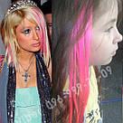 Ярко розовые волосы на заколках, фото 2