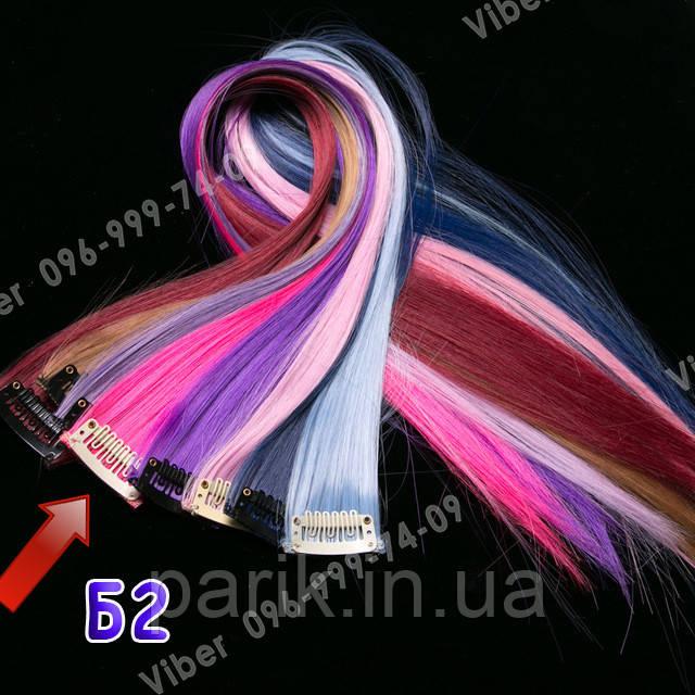 Неоново розовые волосы на клипсах