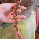 Неоново розовые волосы на клипсах, фото 4