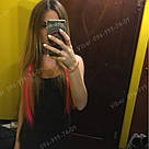 Неоново розовые волосы на клипсах, фото 5
