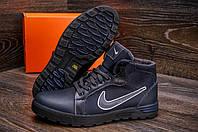 Зимние мужские  ботинки на меху Nike Anti-Core (реплика) натуральная кожа