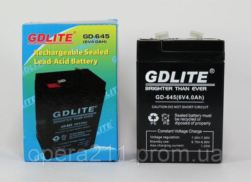 Аккумулятор GDLITE GD 645 6V 4 Ah