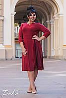 Платье батальноеитальянский трикотаж с шифоном