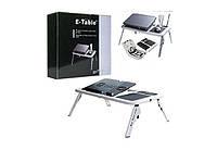Портативный складной столик для ноутбука E-Table, подставка для ноутбука постельный стол Етейбл