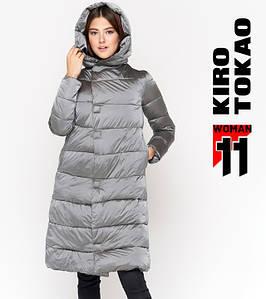 11 Kiro Tokao   Теплая женская куртка 818 серая