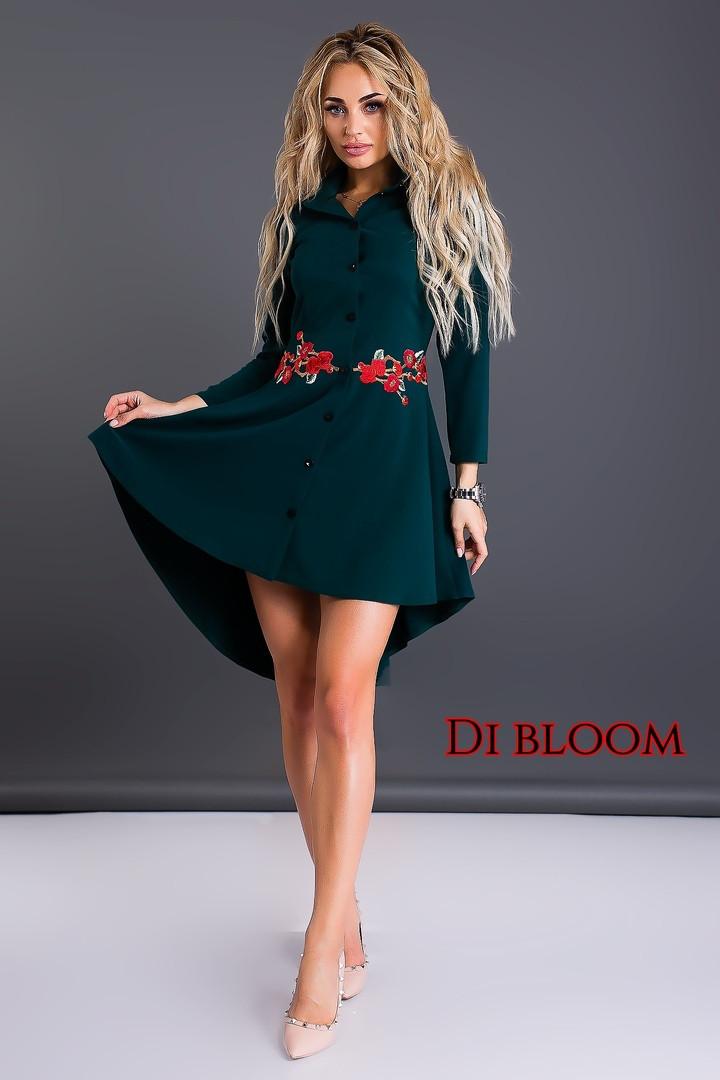 ac15a586bc40ba7 Платье-рубашка с вышивкой — купить недорого в Харькове в интернет ...