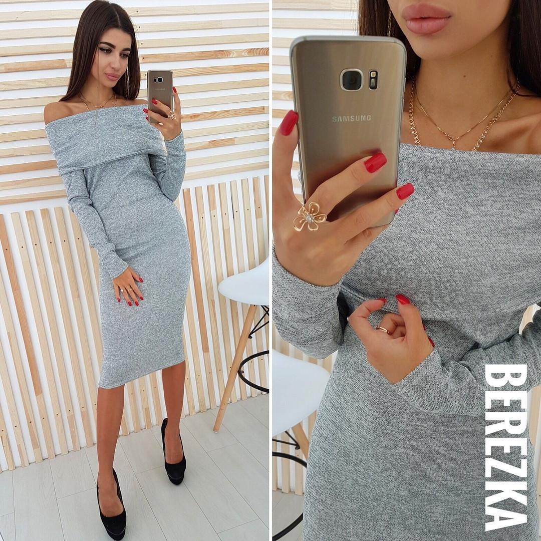 1550e460796 Тёплое ангоровое платье миди белое — купить недорого в Харькове в ...