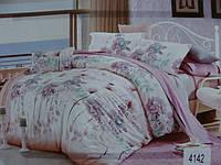 Сатиновое постельное белье евро ELWAY 4142
