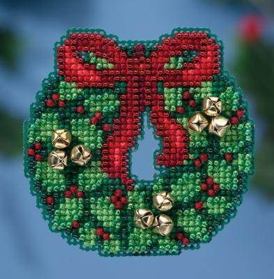 Набор для вышивки Jingle Bell Wreath  Mill Hill