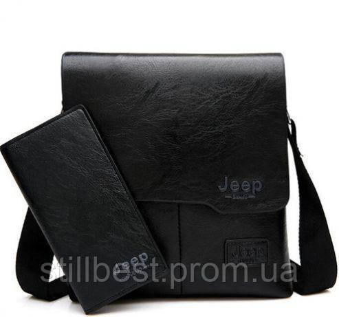 f98cddabac22 Кожаная мужская сумка Jeep buluo + Кошелек в подарок: продажа, цена ...