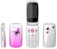 Телефон Samsung W888 Сиреневый -  2Sim - раскладушка - Fm - Bt - Cam