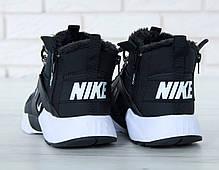 Мужские кроссовки с мехом Nike Huarache Acronym City Winter черно-белые топ реплика, фото 3