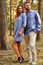 Парные вышиванки мужская рубашка и женское платье джинс