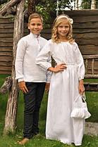 Парные детские вышиванки в технике белым по белому