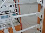 Рейка 1900мм перфорована білого кольору для настінного торгового обладнання, фото 6