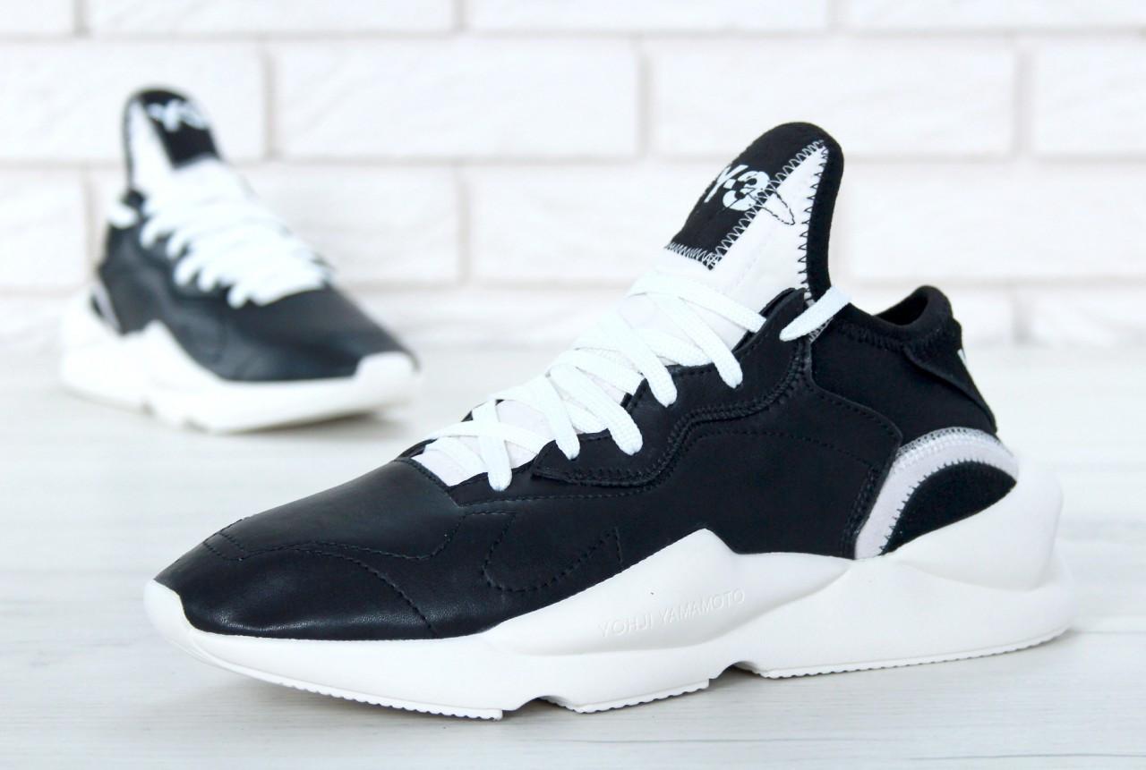 Кроссовки мужские осенние черно-белые стильные от Adidas Y-3 Kaiwa Yohji  Yamamoto Адидас Ёдзи Ямамото 983d910e71ab3
