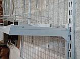 Рейка 2350мм перфорована білого кольору для настінного торгового обладнання, фото 5