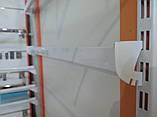 Рейка 2350мм перфорована білого кольору для настінного торгового обладнання, фото 7