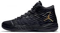 Кроссовки мужские черные высокие осенние модные Nike Air Jordan Найки Аир Джордан