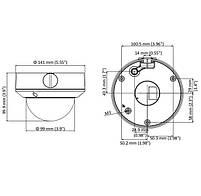 2 Мп купольная IP видеокамера Hikvision DS-2CD1721FWD-IZ (2.8 - 12 мм), фото 2