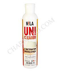 Uni Cleaner для зняття гель-лаку, лаку, акрилу Nila 250 ml. (Мед-молоко)