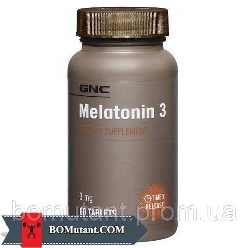 Melatonin 3 120таблетки GNC шоколад-кокос