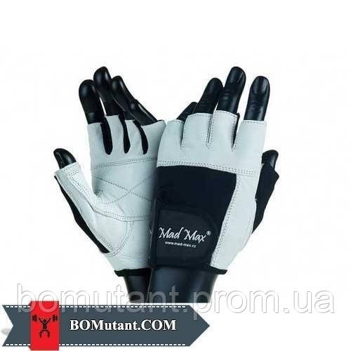 Fitness Workout Gloves MFG-444 размерM Mad Max бело-черный