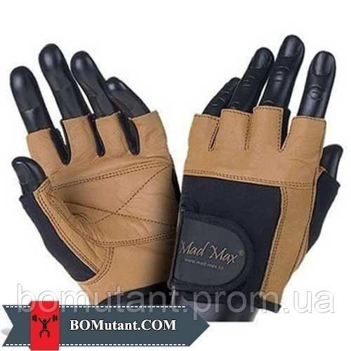 Fitness Workout Gloves MFG-444 размерM Mad Max n.коричневый / черный