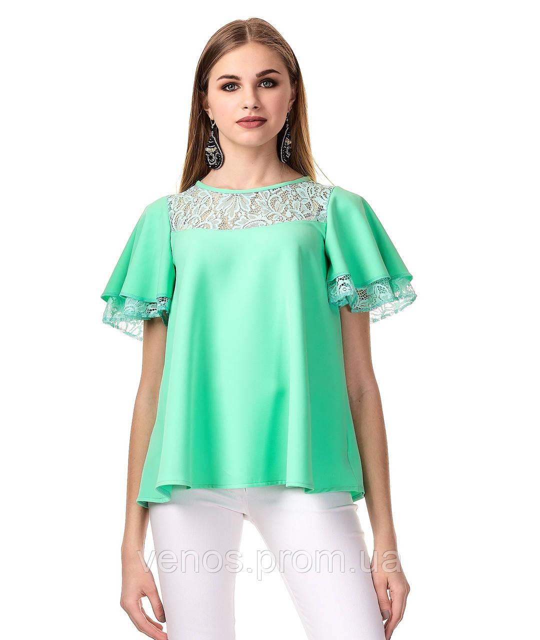 Женская блуза с воланами. К077