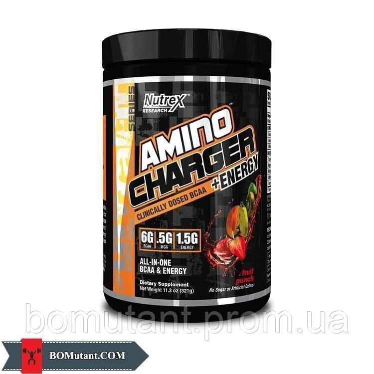 Amino Charger +Energy 0,321кг Nutrex натуральный фруктовый пунш