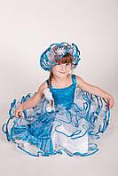 Детский карнавальный костюм Снежинка «Голубая» код 1169
