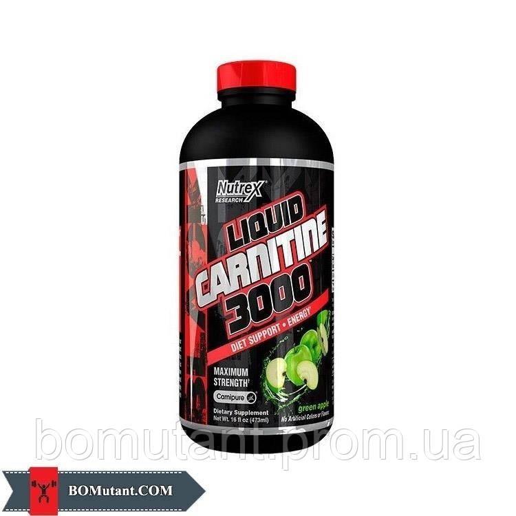 Liquid Carnitine 3000 473ml Nutrex зеленое яблоко