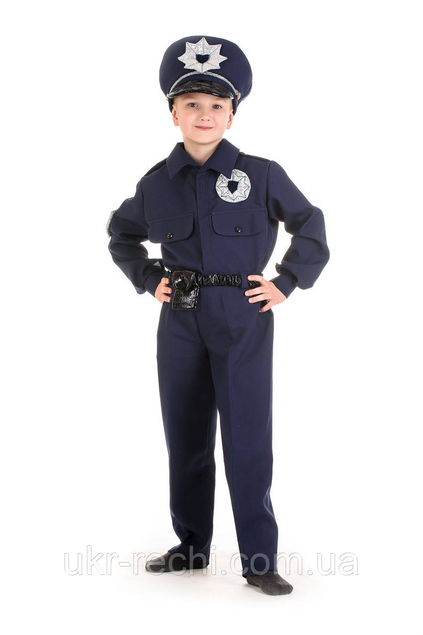 Детский карнавальный костюм Полицейский код 1328