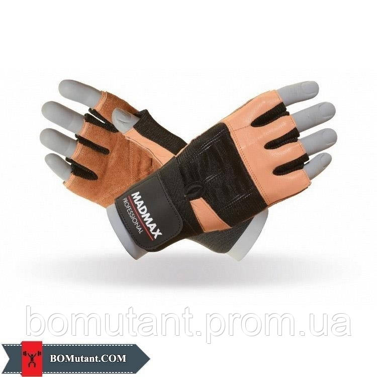 Professional Workout Gloves MFG-269 размерL Mad Max n.коричневый / черный