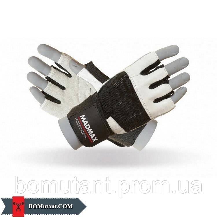 Professional Workout Gloves MFG-269 размерL Mad Max бело-черный
