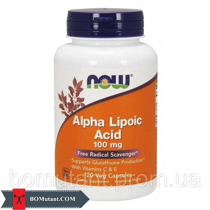 Alpha Lipoic Acid 100 mg 120 vegveg caps NOW шоколад-кокос