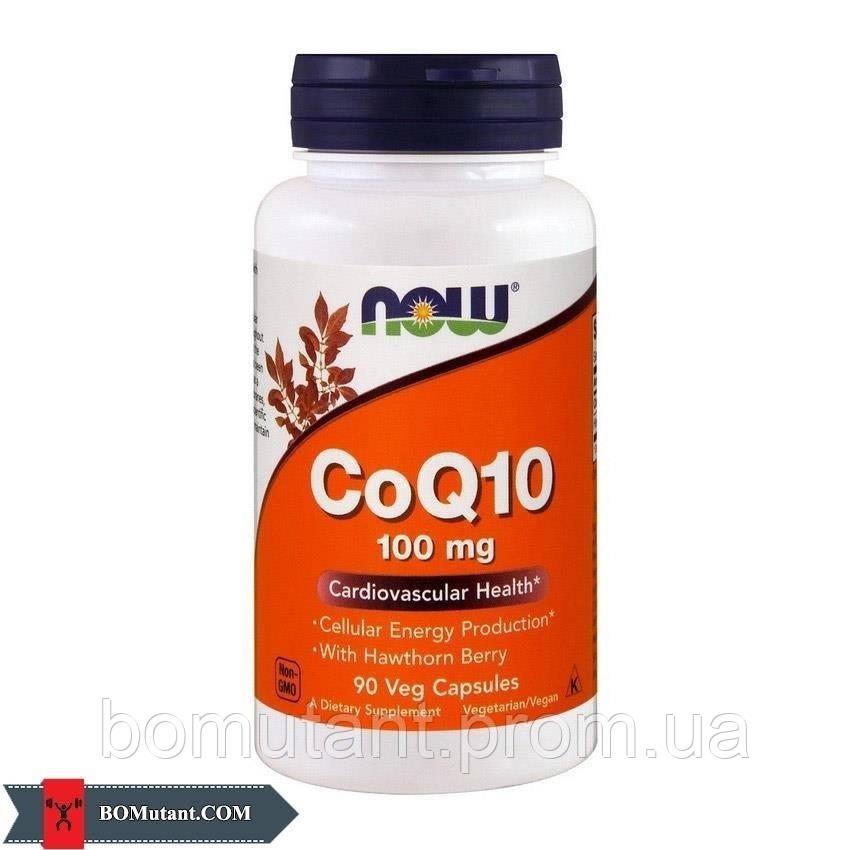 CoQ10 100 mg 90 vegveg caps NOW шоколад-кокос