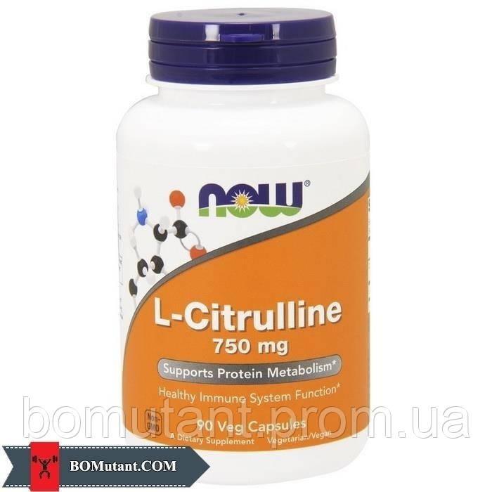 L-Citrulline 750 mg 90 vegveg caps NOW шоколад-кокос