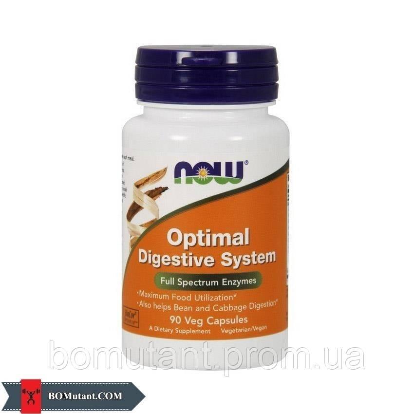 Optimal Digestive System 90капсулы NOW шоколад-кокос