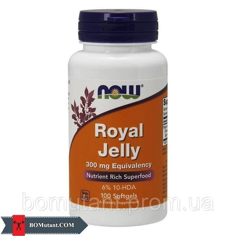 Royal Jelly 300 mg Eguivalency 100капсулы NOW шоколад-кокос