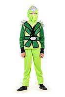 Детский карнавальный костюм Ниндзяго мальчик зеленый код 1354